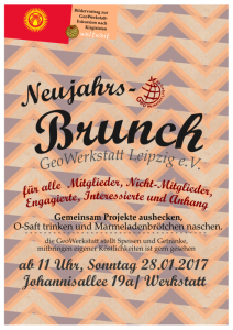 GeoWerkstatt Brunch 2018 01 28